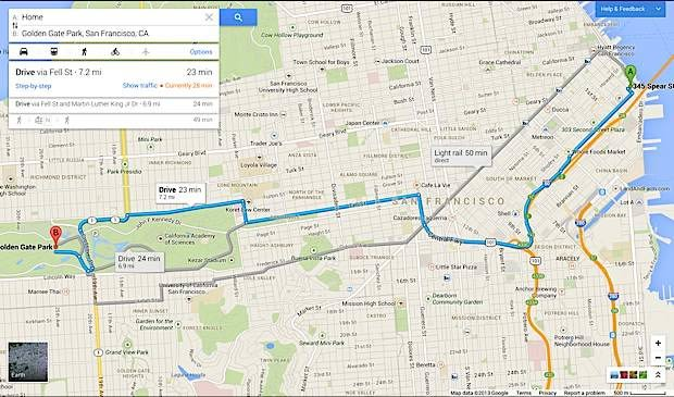 Google Maps Redesigned With Improved Search And Tablet UI Video - Google maps san francisco