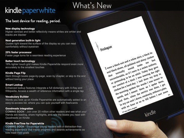 amazon briefly lists next generation kindle paperwhite with new
