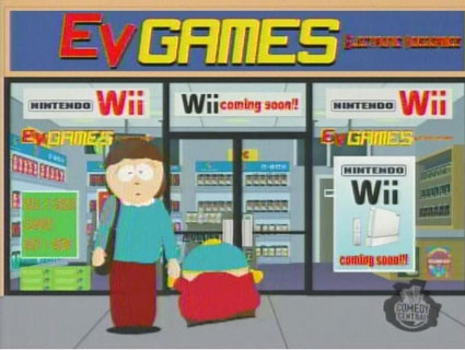 south park waiting for wii is like waiting for christmas times a