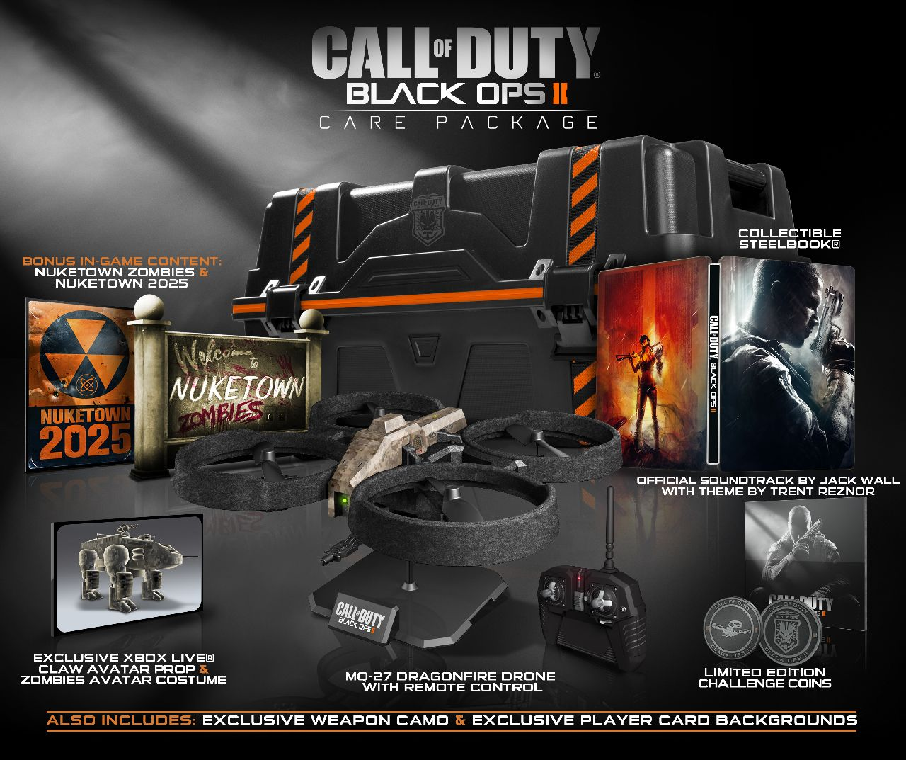 Call of duty black ops ii limited editions unveiled 180 care activision never disappoints when it comes to limited edition call of duty release bundles and for the upcoming black ops ii it actually may have outdone gumiabroncs Gallery