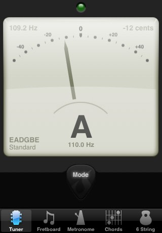 Count the beats: Tuning and more with Guitar Toolkit for iPhone ...