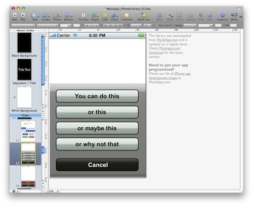 Free iphone keynote and powerpoint templates help get you from mockapp has created both keynote and powerpoint templates of iphone ui elements and has made them available as free downloads toneelgroepblik Gallery