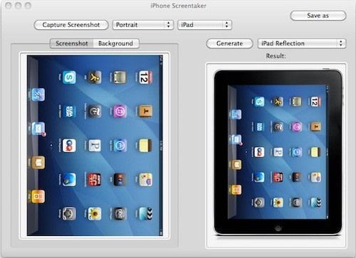 iPhone Screentaker updated with iPad templates
