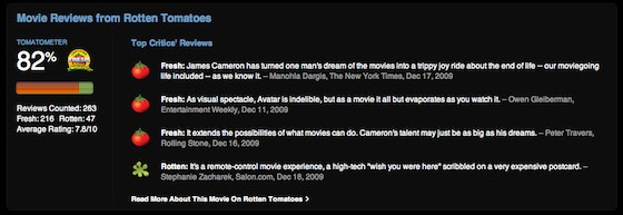 itunes store now shows rotten tomatoes tomatometer reviews for movies image credit