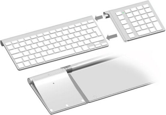 add a number keypad to your apple wireless keyboard. Black Bedroom Furniture Sets. Home Design Ideas