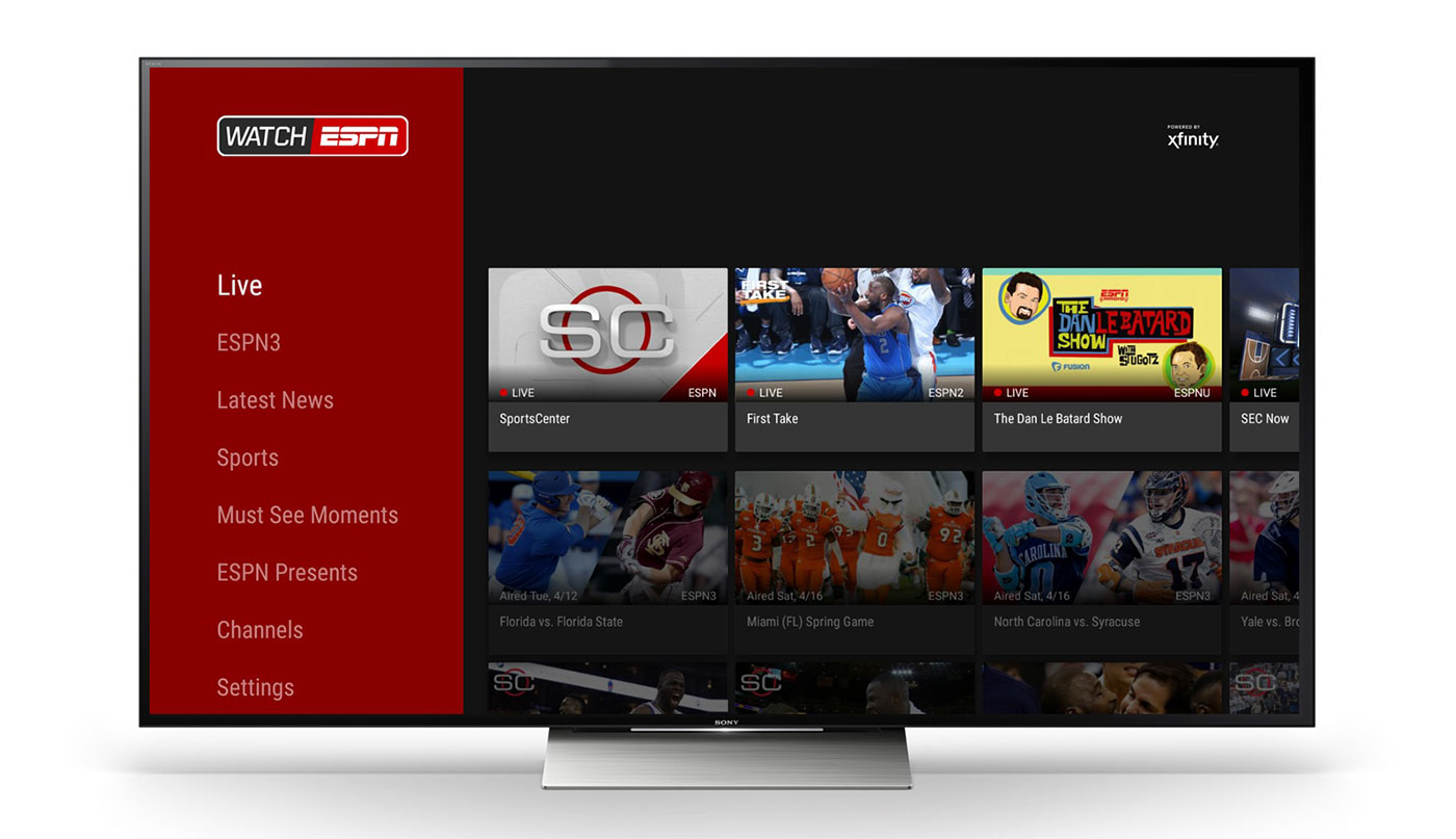 What type of programs are played on ESPN3?