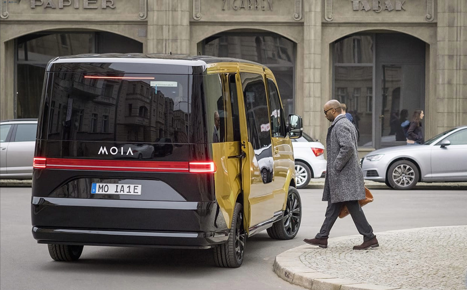 vw unveils an electric van for its moia ride sharing service. Black Bedroom Furniture Sets. Home Design Ideas