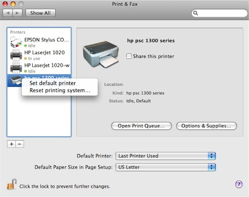 Follow the instructions below to change the default printer driver settings on Mac. The options shown will vary by printer model and driver being used. The MFCdw is used in this example.