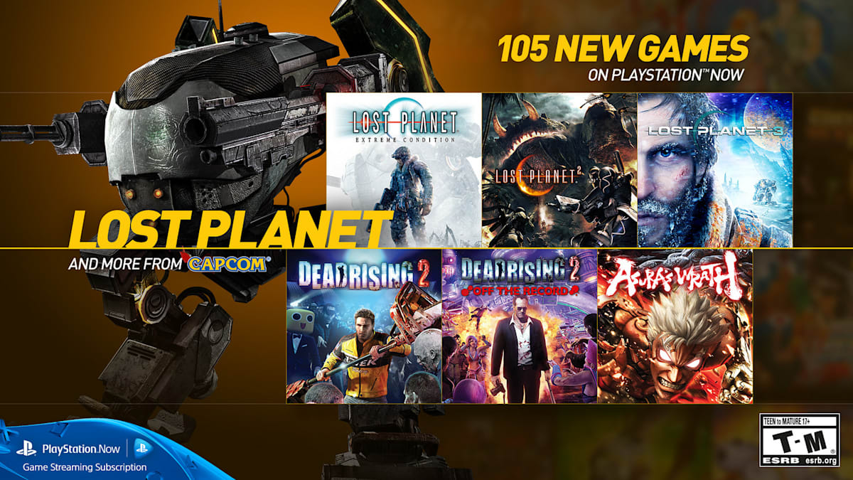 PlayStation Now adds 105 games, including 21 from Capcom
