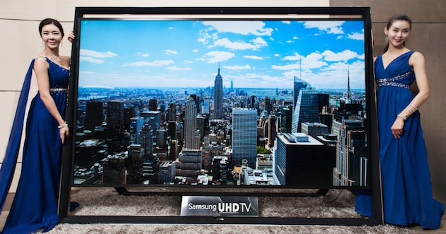 Samsungs Inch Ultra HDTV Is The Worlds Largest And It Goes On - Abt samsung tv