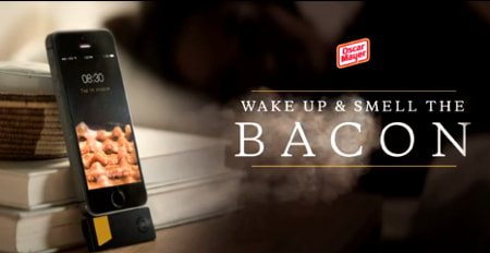 Bacon Scented Alarm Clock Oscar Mayer Invents Greatest Iphone Wakeup Tool Ever Photo 1559857 moreover Oscar Mayer Giving Away Bacon Smell O Vision Iphone Alarm Clock 1587001 in addition Apps Roundup 3 8 14 moreover Wake Smell BACON IPhone Alarm App Replaces Sound Wafts Breakfast Aroma as well Oscar Mayer Iphone Adapter Lets You Wake To The Smell Of Bacon Video 06 03 2014. on oscar mayer bacon alarm clock