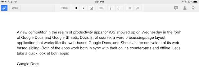Google Docs And Sheets A First Look At The Underpowered IOS Apps - Google docs online
