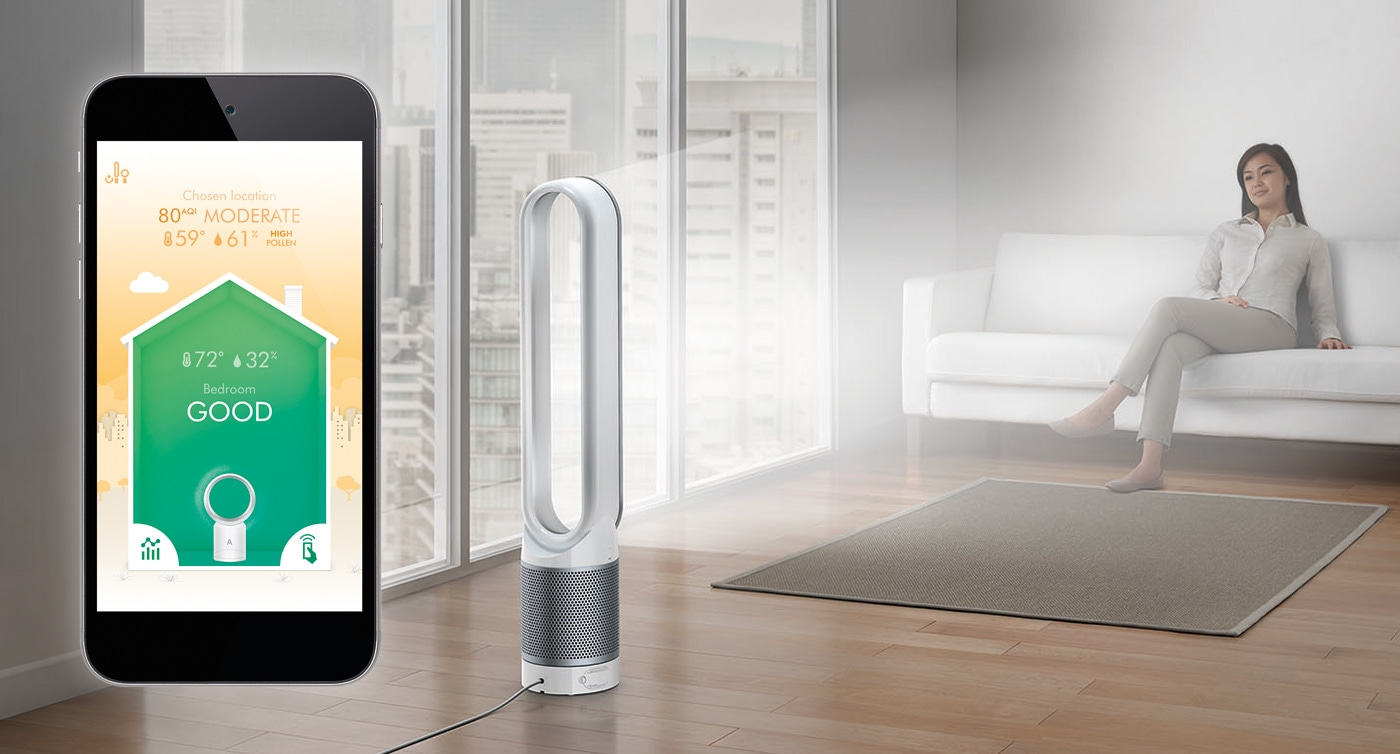 pure cool link dyson stellt einen luftreiniger mit app vor. Black Bedroom Furniture Sets. Home Design Ideas