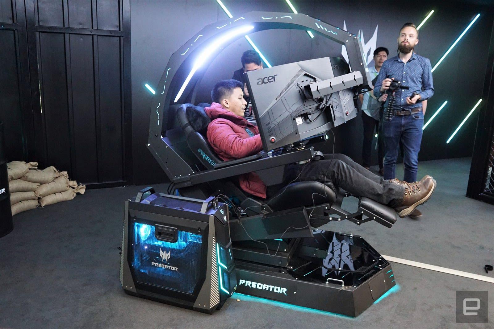 Acer S Predator Thronos Is A Cockpit Masquerading As
