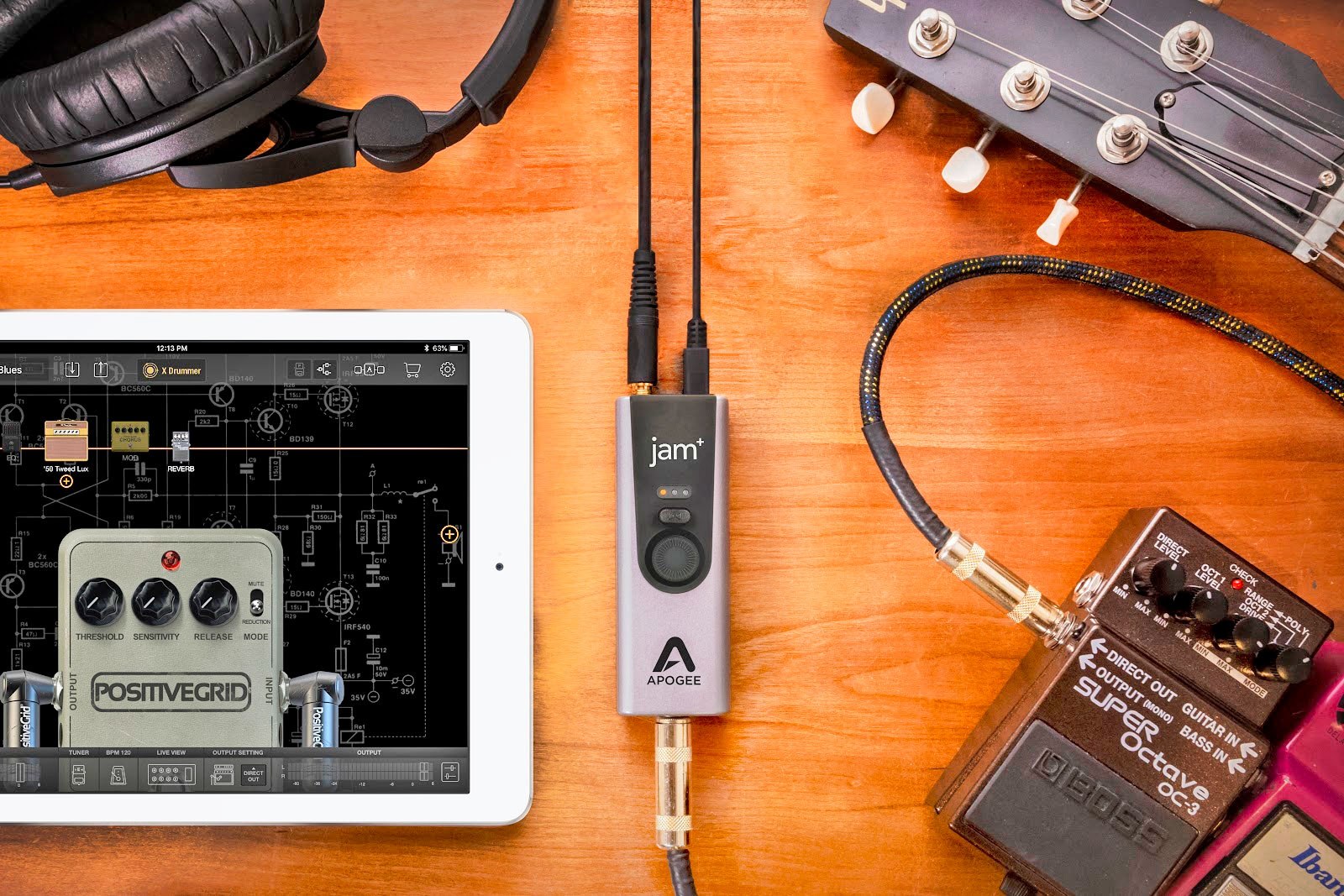 Apogee\'s Jam+ is an upgraded guitar input for iOS, Mac and Windows