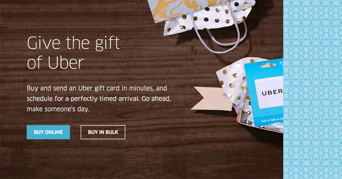 uber starts selling digital gift cards online. Black Bedroom Furniture Sets. Home Design Ideas