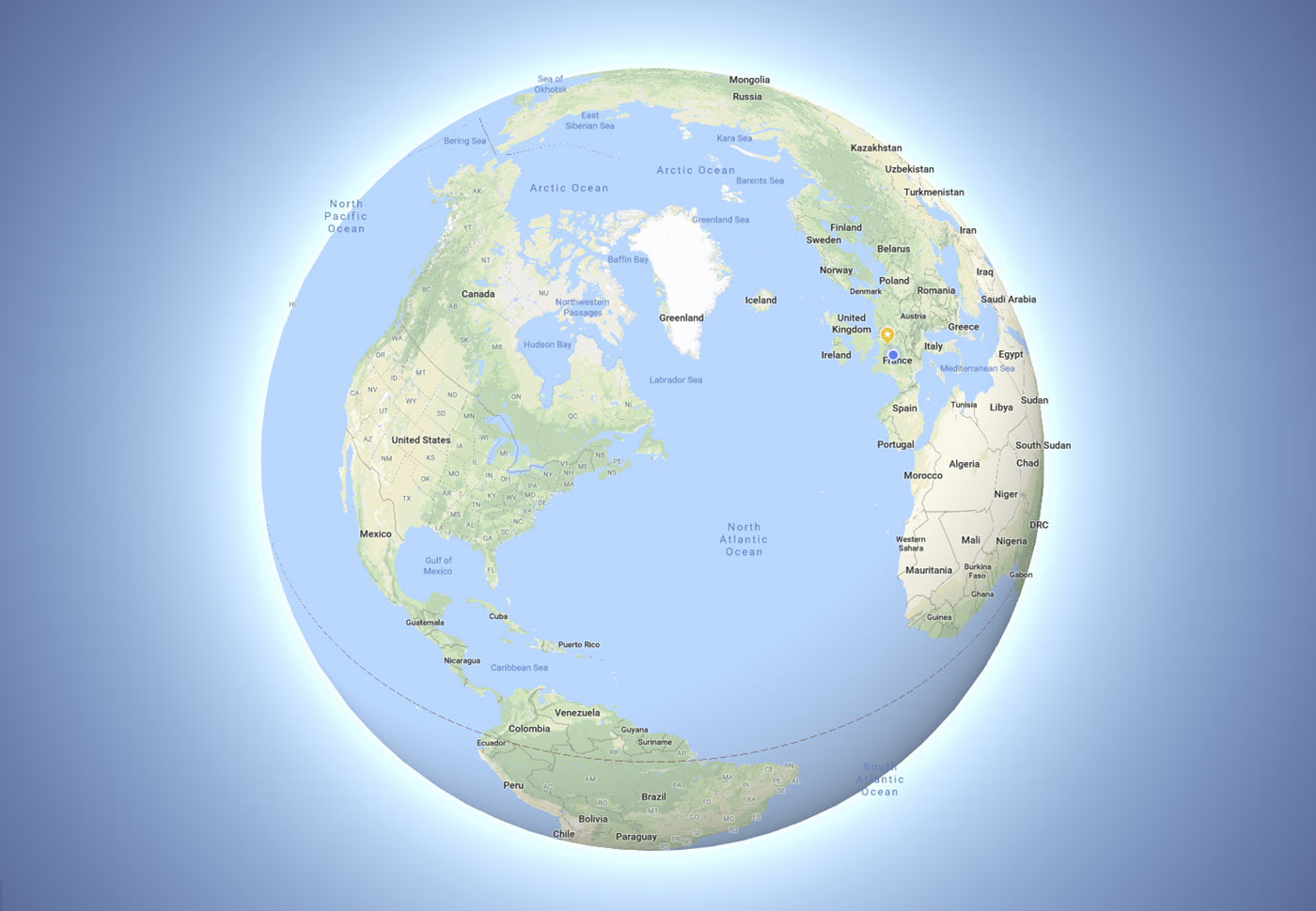 Google maps now zooms out to a globe instead of a flat earth image credit google gumiabroncs Choice Image