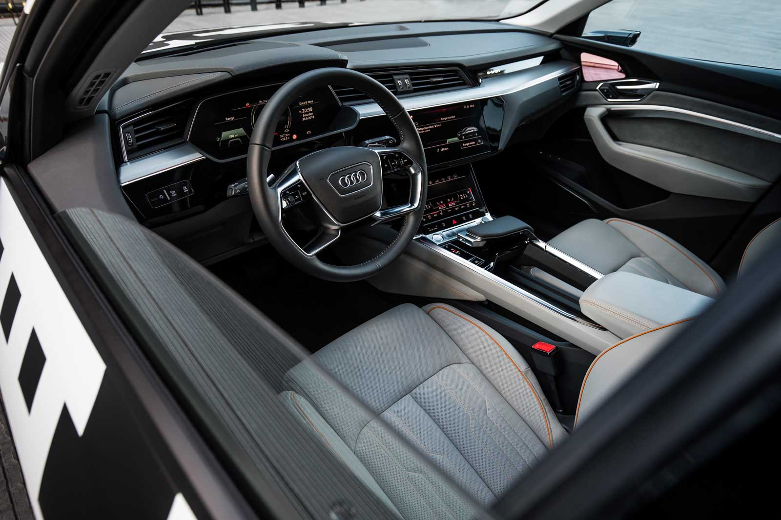 Audi Shows Off Its Electric SUVs Screenfilled Interior - Audi interior