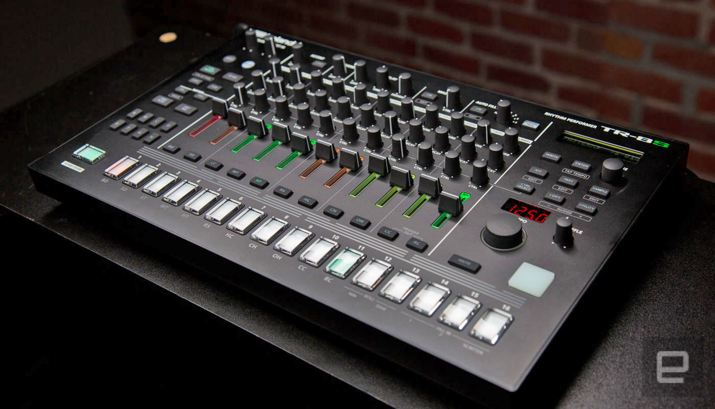 roland s tr 8s drum machine is ready to tackle the stage. Black Bedroom Furniture Sets. Home Design Ideas