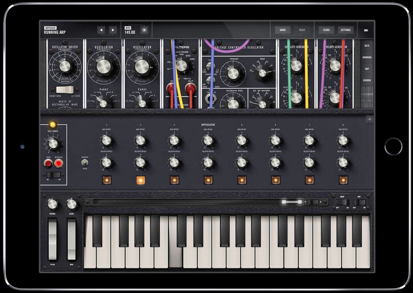 moog 39 s new app brings the iconic model 15 synth to your ipad. Black Bedroom Furniture Sets. Home Design Ideas
