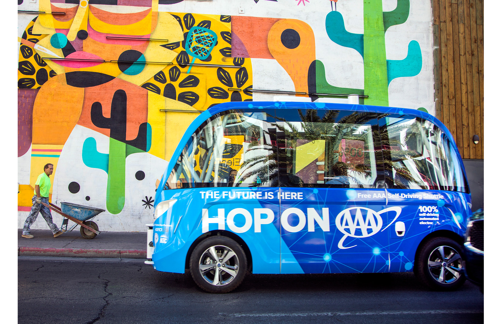 Las Vegas Expands Its Self Driving Shuttle Tests This Week