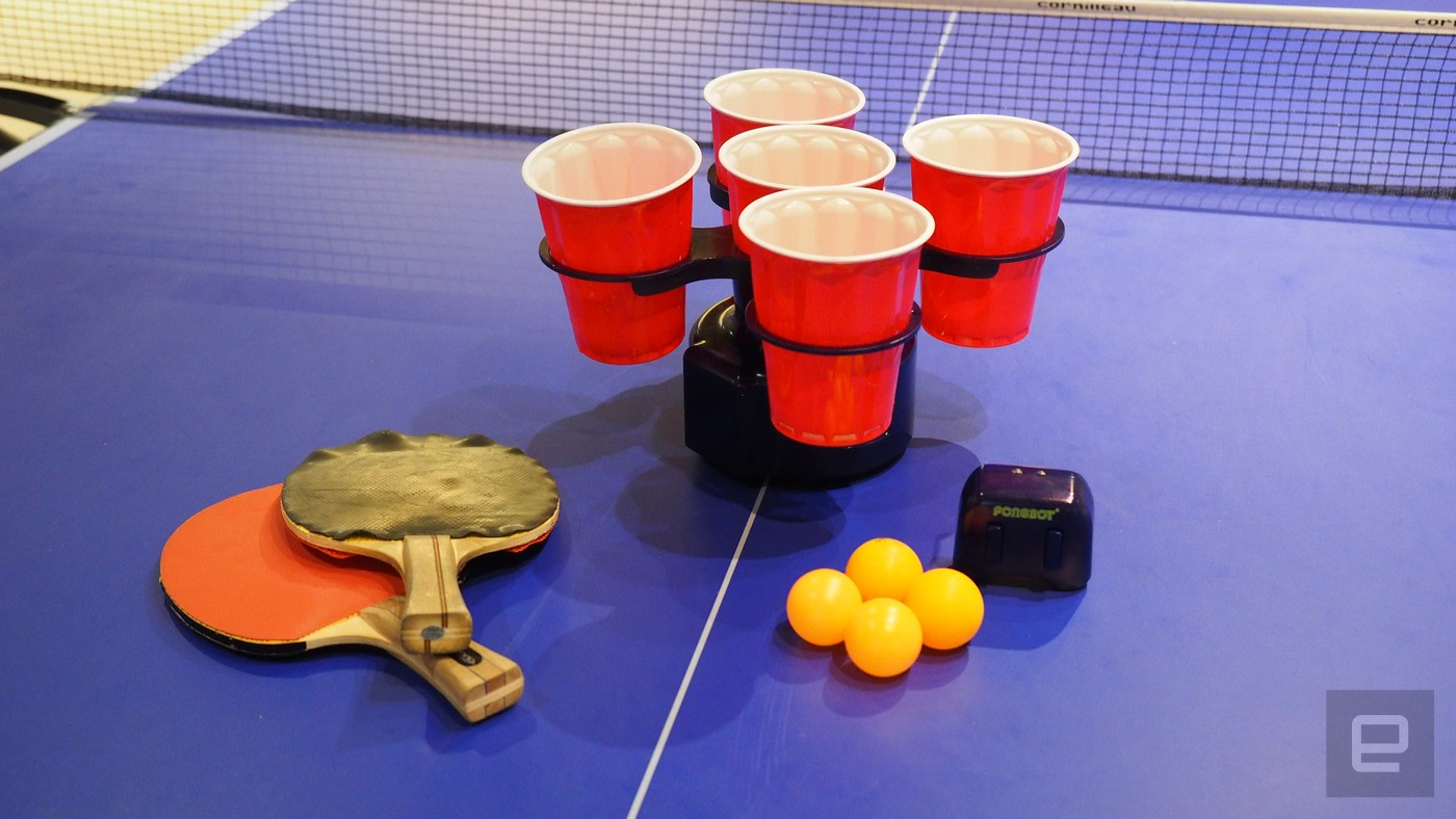 the pongbot makes beer pong actually challenging