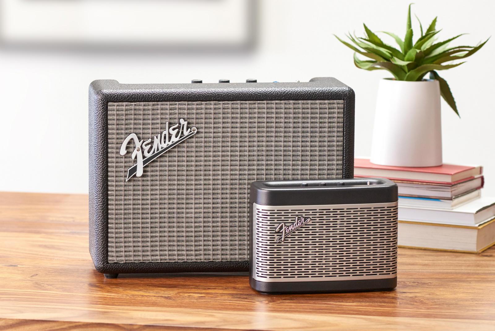 fender 39 s bluetooth speakers look just as you 39 d imagine. Black Bedroom Furniture Sets. Home Design Ideas