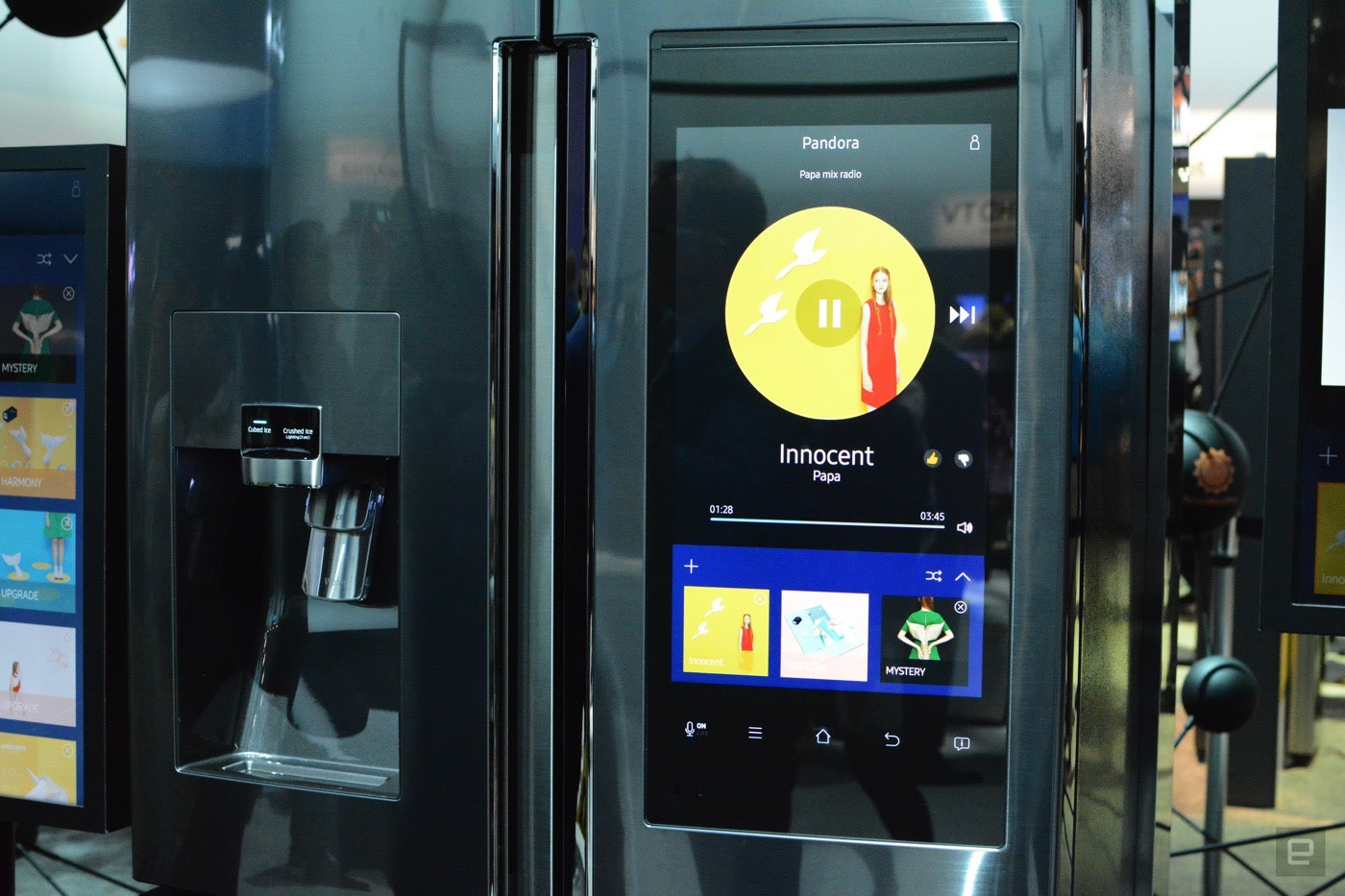 You Can Order Groceries From The Door Of Samsung S New Fridge