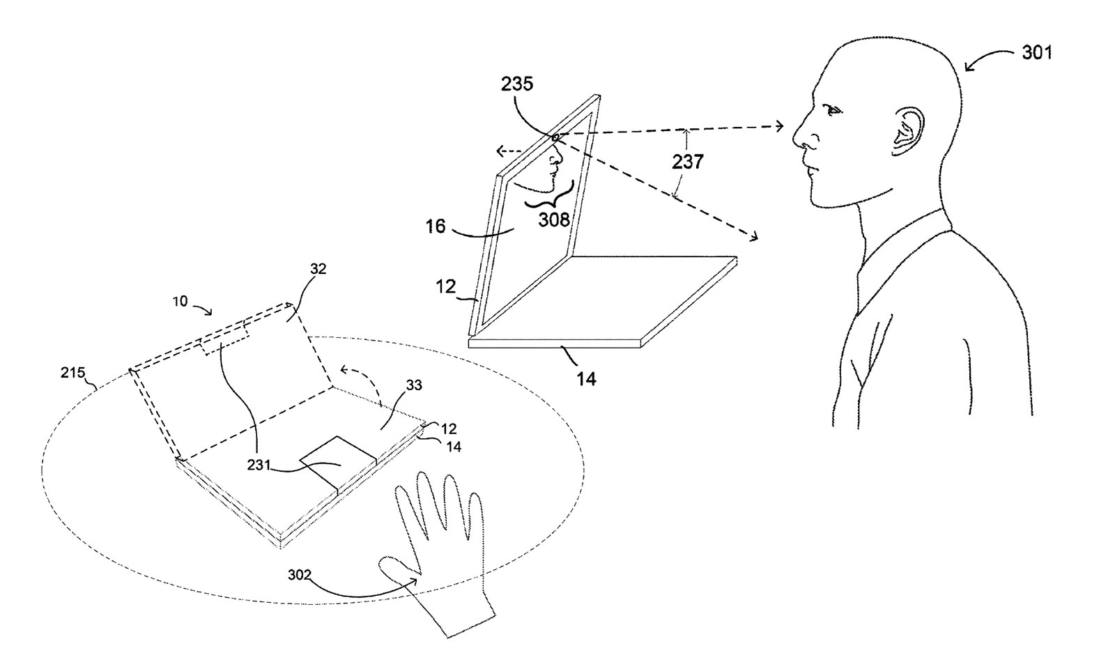 Google patents a motorized Chromebook hinge that can open
