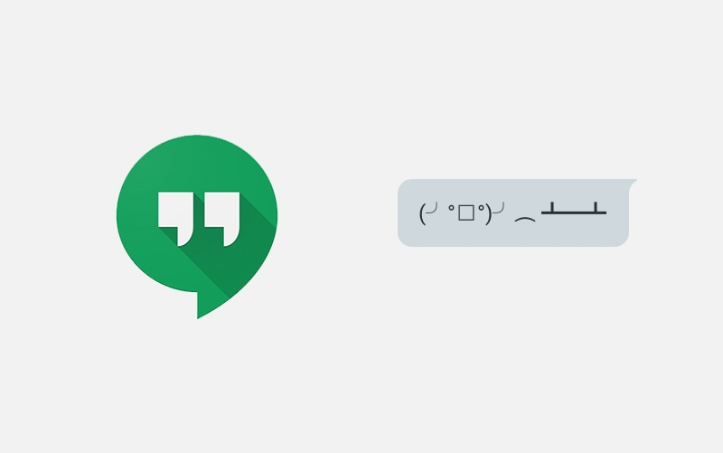 Google Hangouts Adds Emoticon Shortcuts For Easy Table Flipping