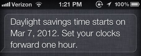 Siri thinks daylight saving time starts 4 days early for When was daylight savings time started