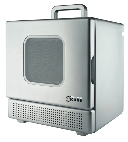 Iwave cube the personal portable microwave - Mobile porta forno microonde ...