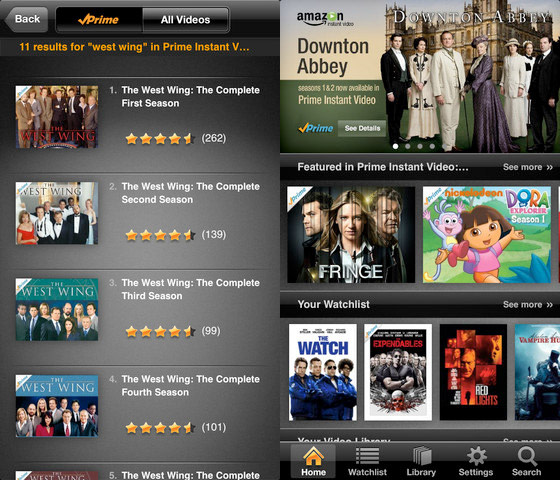 Amazon Instant Video Streaming App Now Available For