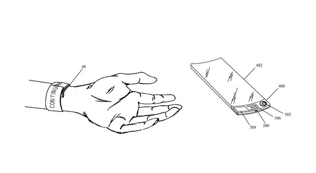 Apple patent app describes flexible, wearable, watch-like