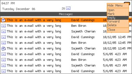 E mail client for homebrew users for 51090 text