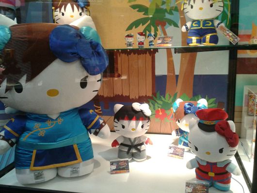 hello kitty x street fighter plushies heading to a hot
