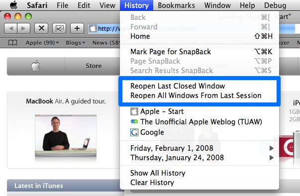 how to get my search bar back on my mac
