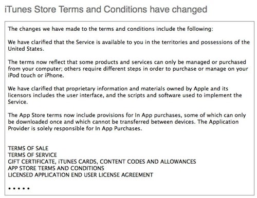 New terms and conditions for itunes store now online for Terms and conditions for online store template