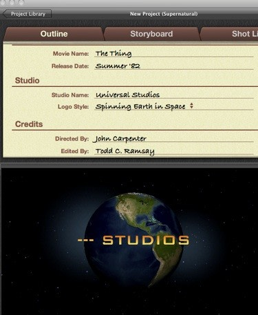 imovie ipad how to add credits
