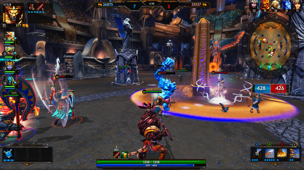 Top Games For Free : Third person moba smite finally exits beta launches on