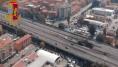 Le immagini del luogo dell'incidente a Bologna riprese dall'elicottero della Polizia di