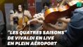 L'orchestre de Genève a profité du retard de son avion pour offrir un concert improvisé à