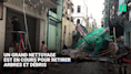 À Hong-Kong, opération de nettoyage chez les habitants frappés par la tempête