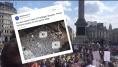 À Londres, la manifestation contre Donald Trump bloque complètement le centre de la