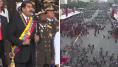 Venezuela: les images de la panique après l'explosion qui a interrompu Maduro en plein