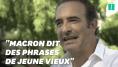 Même Jean Dujardin le dit, Emmanuel Macron a des phrases
