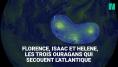 Les images impressionnantes de Florence, Isaac et Helene, les trois ouragans qui secouent