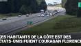 L'autoroute ouverte à contre-sens pour fuir l'ouragan