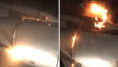 Le moteur de cet avion a pris feu après le décollage, en