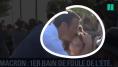 À Brégançon, pour son premier bain de foule de l'été, Emmanuel Macron est fidèle à son image de président